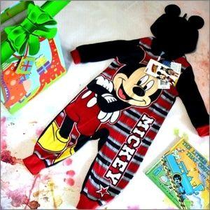 Disney Mickey Pajamas With Ears #f8o62k02a14d3t5